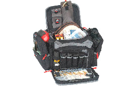 G*Outdoors 1411MRB Medium Range Bag Lockable Zipper Loop Nylon Black