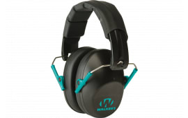 Walkers Game Ear GWPFPM1BKTL Pro Low Profile Folding Muff Earmuff 22 dB Black/Teal