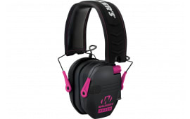 Walkers Game Ear Gwprsempnk Razor Electronic Slim Shooter Folding Muff 23 dB Black/Pink