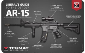 "Tekmat R17AR15MEDiamondback Liberals Guide AR-15 Cleaning Mat 17"" x 11"" Black"