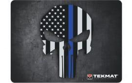 "Tekmat R20PUNISHER Punisher Ultra Premium Cleaning Mat Blue Line Punisher Skull 20"" x 15"" Black/White/Blue"