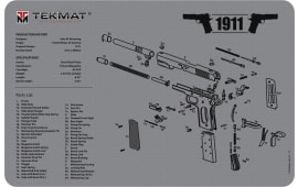 "Tekmat R171911GY 1911 Cleaning Mat Printed 1911 Illustration Grey 17"" x 11"""
