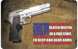 "Tekmat R172AMEND Right To Bear Arms Cleaning Mat 2nd Amendment 17"" x 11"" Multi-Color"