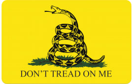 "Tekmat R17GADSDEN Don't Tread on Me Cleaning Mat Gadsden Flag 17"" x 11"" Yellow/Black"