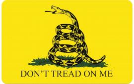 "Tekmat R17GADSDEN Don't Tread on Me Cleaning Mat Gadsden Flag 17"" x 11"" Yellow/Black"