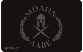 "Tekmat R17MOLONLABE Molon Labe Cleaning Mat Molon Labe Spartan 17"" x 11"" Black/Grey"