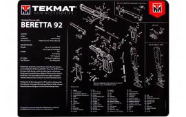 "Tekmat R20BER92 Beretta 92 Ultra Premium Cleaning Mat Beretta 92 Parts Diagram 20"" x 15"" Black/White"