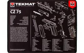 """Tekmat R20CZ75 CZ-75 Ultra Premium Cleaning Mat CZ-75 Parts Diagram 20"""" x 15"""" Black/White"""