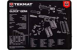 "Tekmat R20GLOCKG4 Glock Ultra Premium Cleaning Mat Glock Gen 4 Parts Diagram 20"" x 15"" Black/White"