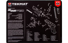 "Tekmat R20SIGP320 Sig Sauer P320 Ultra Premium Cleaning Mat Sig P320 Parts Diagram 20"" x 15"" Black/White"