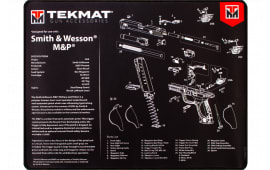 "Tekmat R20SWNP S&W M&P Ultra Premium Cleaning Mat S&W M&P Parts Diagram 20"" x 15"" Black/White"