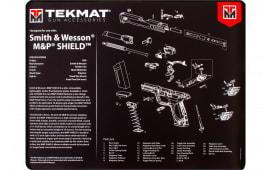 "Tekmat R20SWMPSHIELD S&W M&P Shield Ultra Premium Cleaning Mat S&W M&P Shield Parts Diagram 20"" x 15"" Black/White"