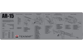 "Tekmat R36AR15GY AR-15 3D Cutaway Cleaning Mat AR-15 Breakdown 36"" x 12"" Black/White/Grey"
