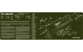 "Tekmat R36M1GARAND M1 Garand Cleaning Mat M1 Garand Parts Diagram 36"" x 12"" OD Green"