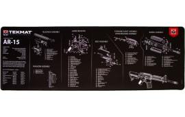 "Tekmat R44AR15 AR-15 Ultra Premium Cleaning Mat AR-15 Parts Diagram 44"" x 15"" Black/White"