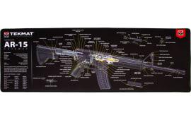 "Tekmat R44AR15CA AR-15 Cutaway Ultra Premium Cleaning Mat AR-15 Breakdown 44"" x 15"" Multi-Color"