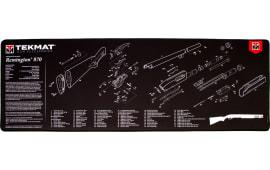 """Tekmat R44REM870 Remington 870 Ultra Premium Cleaning Mat Remington 870 Parts Diagram 44"""" x 15"""" Black/White"""