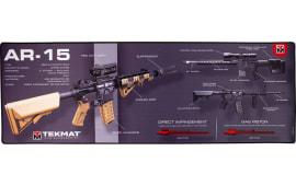 "Tekmat R44AR15WPD AR-15 Ultra Premium Cleaning Mat AR-15 Weapons Platform Design 44"" x 15"" Multi-Color"