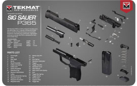 "Tekmat R17SIG9365 Sig Sauer P365 Cleaning Mat P365 Diagram 17"" x 11"" Black/Grey/White"