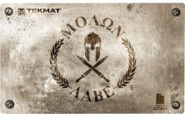 """Tekmat 42MOLONLABE Molon Labe Door Mat Molon Labe Spartan 25"""" x 42"""" Brown"""