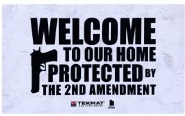 "Tekmat 422AMENDMENT 2nd Amendment Door Mat 25"" x 42"" White/Black"