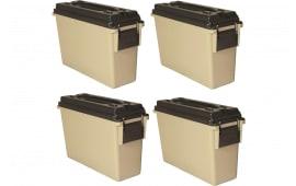 Berrys 49171 30 CAL Plastic Ammo CAN TAN 4/PK