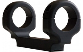 DNZ 16280 1-Pc Base & Ring Combo For Ruger American Short Action Black Matte Finish 30mm Rings Medium