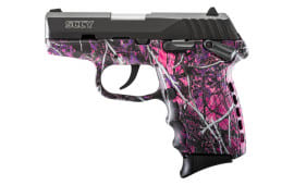 SCCY CPX1CBMG CPX-1 9mm Pistol, w/ Safety, Black Nitride Slide on Muddy Girl Camo, DAO 10+1 w/ 2 Mags