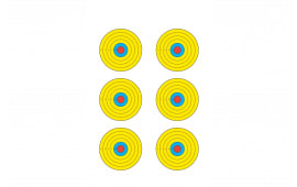 PRBE6100 Bright 6 Bullseye Target (100 BOX)