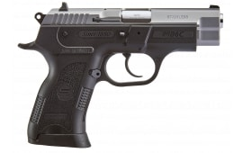SAR USA B6C Compact Semi-Automatic Pistol DA/SA 9mm Includes (2) 13rd Mags - Stainless Slide W/ Black Frame - B69CST