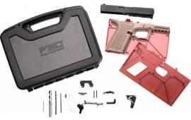 Polymer80 PF940CBBSFDE PF940C Buy Build Shoot Kit Glock 19/23 Gen 3 Polymer Flat Dark Earth 15rd