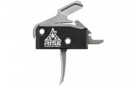 Rise Armament RA434SLVR High Performance Trigger Steel/Aluminum Black/Silver 3.5 lbs