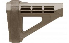 "SB Tactical SBM4-02-SB AR Brace SMB4 Elasto-Polymer FDE 7.2"" L x 2.1"" W"