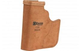 Galco PRO652B Pocket Protector Inside the Pocket S&W M&P Shield Steerhide Center Cut Black
