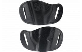 Bulldog MLBS Belt Slide Small Automatic Handgun Holster Right Hand Leather Black