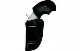 Homeland HLM037BB Holster Boot ''N Belt NAA Mini-Revolver Leather Blac