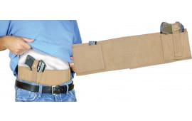PSP Bellybandnm Concealed Carry Belly Band Universal Handgun Nylon Tan