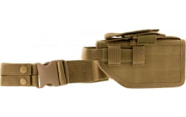NCStar CVDLHOL2954T Drop Leg Universal Holster Tan Semi-Auto Pistols PVC Fabric Tan