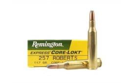 Remington Ammo R257 Core-Lokt 257 Roberts Core-Lokt Soft Point 117 GR - 20rd Box
