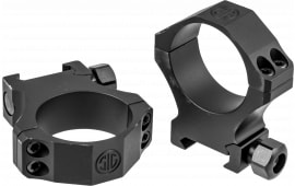 Sig Sauer SOA10018 ALPHA1 Rings 34MM E-HI Alum MAT Black