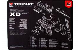 "Tekmat R20XDMOD2 Springfield XD Mod2 Ultra Premium Cleaning Mat Springfield XD Mod2 Parts Diagram 20"" x 15"" Black/White"