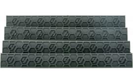 Hexmag HXKMC4PKBLK WedgeLok Rail Cover KeyMod 7 Slots Polymer Black 4 Pack