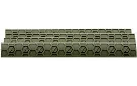 Hexmag HXKMC4PKFDEWedgeLok Rail Cover KeyMod 7 Slots Polymer Flat Dark Earth 4 Pack