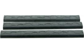 Hexmag HXLRC3PKBLK LowPro Rail Cover Picatinny 18 Slot Polymer Black 3 Pack