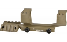 Warne RAMP30DE 1-Pc Base & Ring Combo For Tactical Cantilever Style Dark Earth Finish