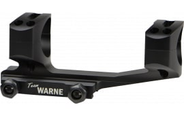 Warne XSKEL30TW 1-Pc Base & Ring Combo For AR Rail Mount Style Black Matte Finish