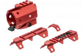 "Strike GRIDLOKHG11BKRED GridLok Handguard For AR Rifle Aluminum Black Anodized/Red 11"""