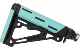 Hogue 13445 AR-15 Rifle Collapsible Stock with Buffer Tube Polymer Black/Aqua