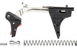 ZEV FFT-PRO-DRP-4G9-B-R Flat TRG Dropin 9mm BK/RD