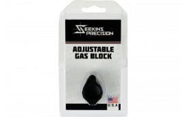 "Seekins Precision 0011510031 Low Profile Adjustable Gas Block 1.37"" x .94"" Black Melonite"